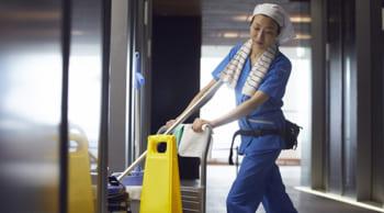 <急募> 平日のみ・パート12時まで 病院内の清掃