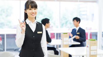 大手ハウスメーカーでの受付事務|高時給1100円|女性活躍中