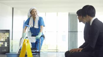 パートタイム12時まで|商業施設内の清掃|女性活躍中